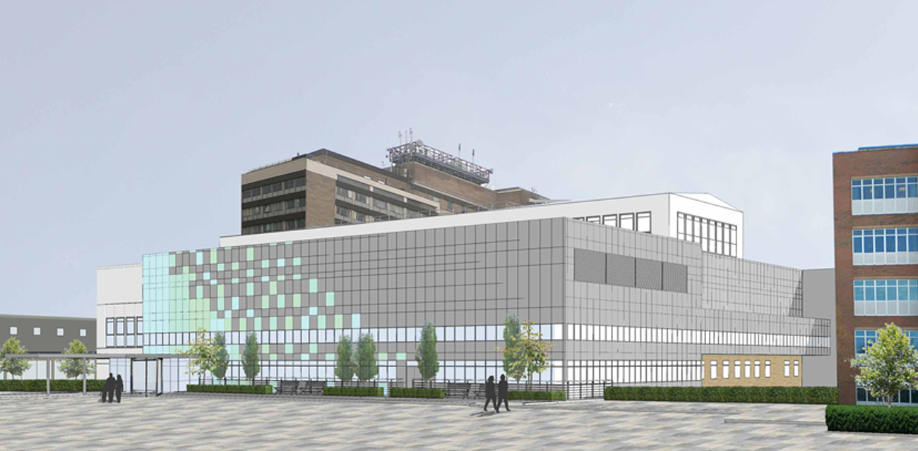 Addenbrookes Hospital, Theatre Extension 3D Render