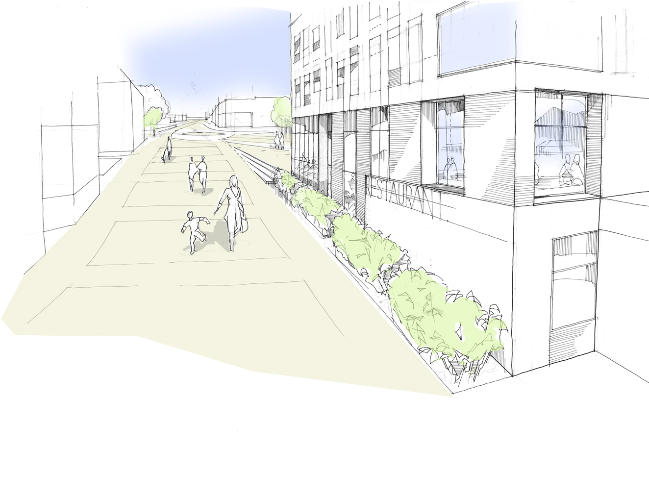 South Essex College, Thurrock Campus Perspective Sketch